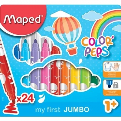 Flamastry Jumbo Colorpeps 24 kolory MAPED