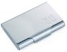 Etui na wizytówki TROIKA JUMBO 30 - aluminium, tytanowy