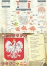 Podkładka na biurko A2 HISTORIA POLSKI/ hymn dwustronna laminowana .