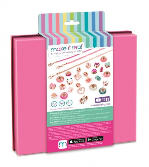 Make it Real Zestaw do tworzenia bransoletek Halo Charms Think Pink
