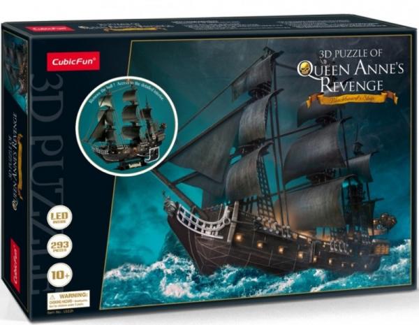 Puzzle 3D LED Królowa Anna (306-20522)