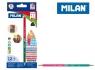 Kredki Milan trójkątne dwustronne / dwukolorowe 24 kolory