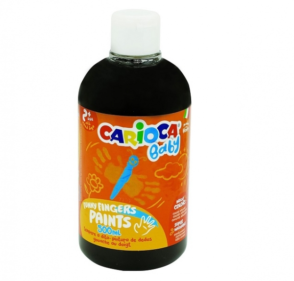 Farba Carioca baby do malowania palcami czarna 500 ml