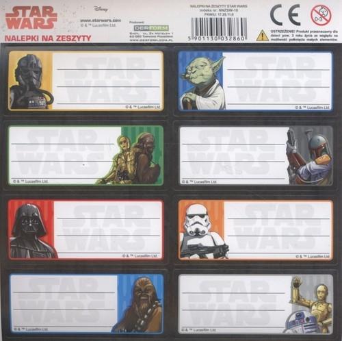 Nalepki na zeszyty Star Wars 8x50 sztuk mix (NNZSW)