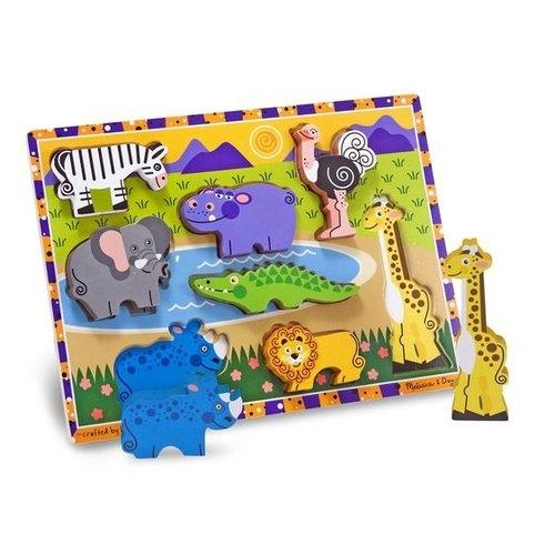 Układanka drewniana - Zwierzaki safari