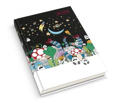 Kalendarz książkowy B6/352 Secret Garden MIX 2019