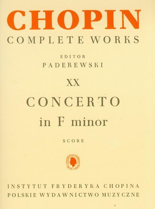 Chopin Complete Works XX Koncert F-moll