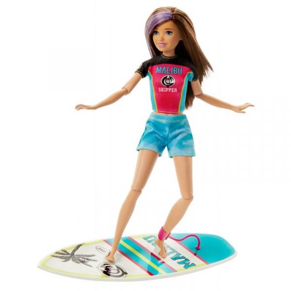 Barbie Dreamhouse Adventures - Lalka Sportowa Siostra Skipper Surferka (GHK34/GHK36)