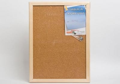 Tablica korkowa 50cm x 80 cm w ramie drewnianej(CET58)