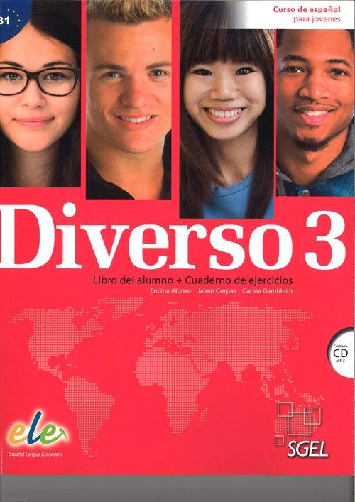 Diverso 3 Podręcznik + ćwiczenia + CD MP3 Encina Alonso, Jaime Corpas, Carina Gambluch