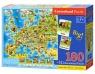 Puzzle Mapa Europy 180 + 32 Quiz<br />E-227