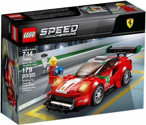 Lego Speed Champions: Ferrari 488 GT3 Scuderia Corsa (75886)