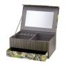 Pudełko tekturowe, szkatułka na biżuterię z lusterkiem 20x14x8cm Dżungla Domotti