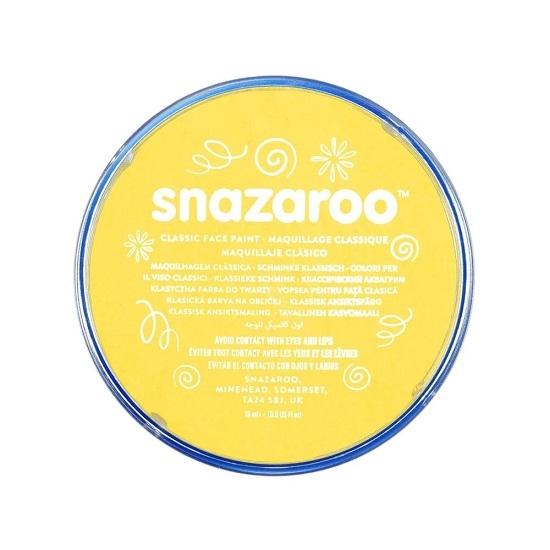 Farba do twarzy i ciała Snazaroo 18ml - żółta (1118222)