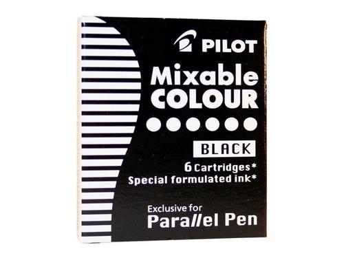 Naboje do pióra Pilot Parallel Pen czarne 6 szt. (IC-P3-S6-B)