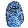 Plecak 15x33xH46 niebieski batik .
