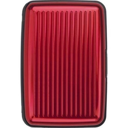 Wizytownik aluminium czerwony