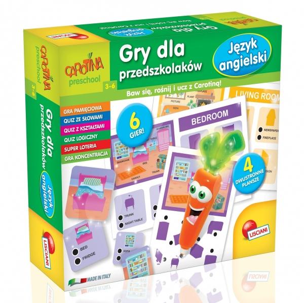 Carotina Gry dla przedszkolaków - Język angielski (PL61228)