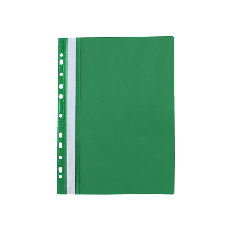 Skoroszyt Elba Z PERFORACJĄ A4 - zielony 10szt