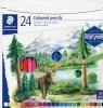 Kredki ołówkowe sześciokątne 24 kolorów