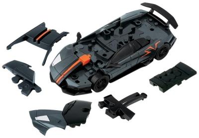 Puzzle 3D Cars - Lamborghini szary - poziom 2/4 G3