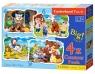 Puzzle konturowe 4w1 3-4-6-9: Classic Fairy Tales