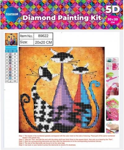 Mozaika diamentowa 5D 20x20cm Cat 89622