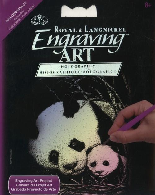 MINI wydrapywanka holograf - Panda i Maluch