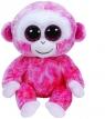 Beanie Boos Ruby - różowo-biała małpka średnia