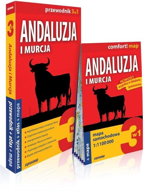 Andaluzja i Murcja 3w1: przewodnik + atlas + mapa Jabłoński Piotr, Marchlik Anna