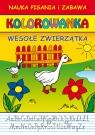 Wesołe zwierzątka Nauka pisania i zabawa Kolorowanka
