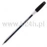 Długopis żelowy Rystor GZ-31 przeźroczysty czarny