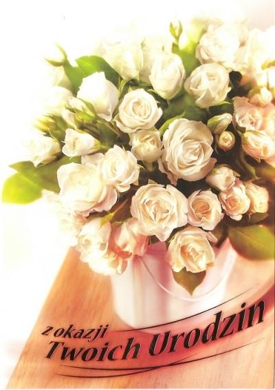 Karnet B6 Kwiaty W Dniu Urodzin FF1206 FF1206