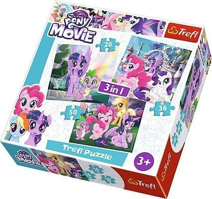 Puzzle 3w1 My Little Pony Magia przyjaźni