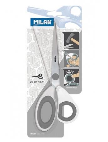 Nożyczki biurowe Milan 22 cm białe (BWM10265)