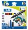 Flamastry Milan Maxi Magic 643 - 10 kolorów (8+2) (80023)