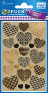 Naklejki papierowe - Serca (57123)
