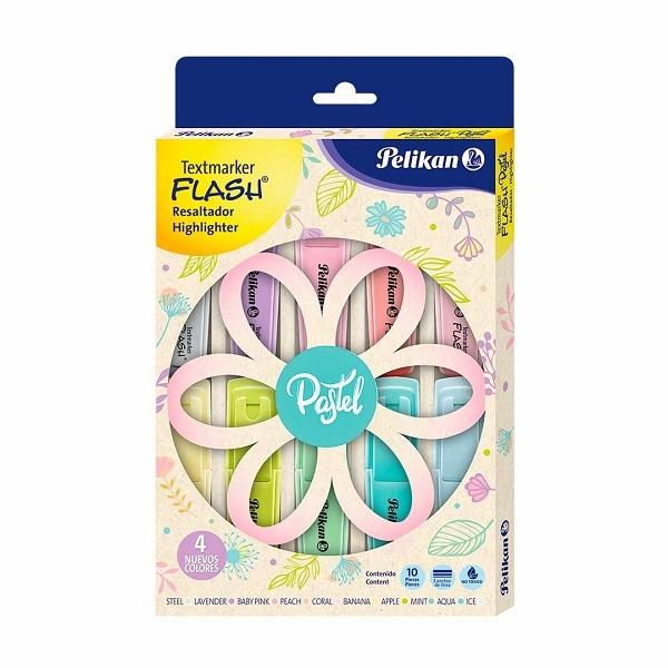 Zakreślacze Pelikan Signal Pastel, 10 kolorów (60078803)