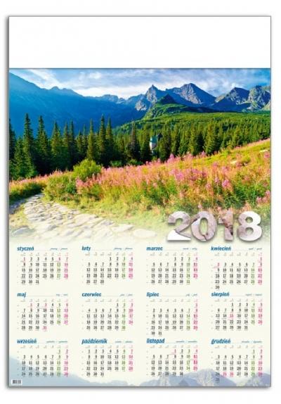 Kalendarz plakatowy Hala Gąsienicowa A1 2018 GM-917-T11-BIAŁY