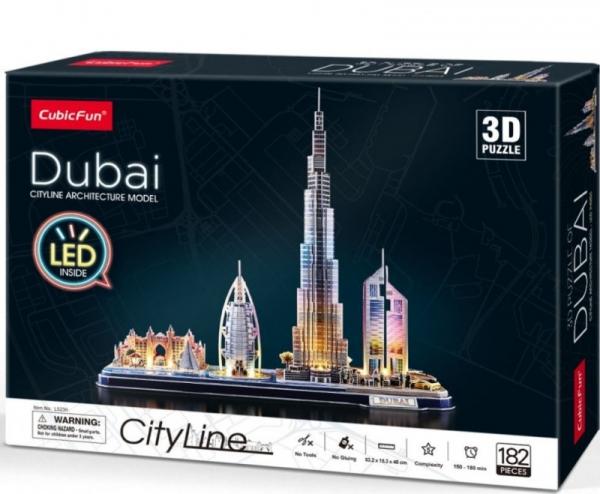 Puzzle 3D LED Dubaj (306-20523)
