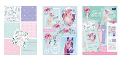 Blok kreatywny A4 z naklejkami Pony (433232)