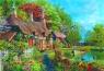 Puzzle Domek w kwitnącej dolinie rzecznej  4000