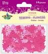 Cekiny kwiaty dekoracja różowe 10mm 14g