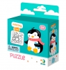Puzzle 16: Pingwinek + kolorowanka (DOP300122)