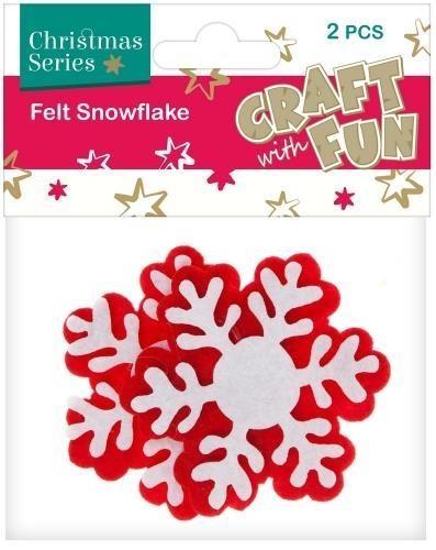Ozdoba dekoracyjna filc płatki śniegu 2el