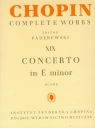 Chopin Complete Works XIX Koncert E-inor