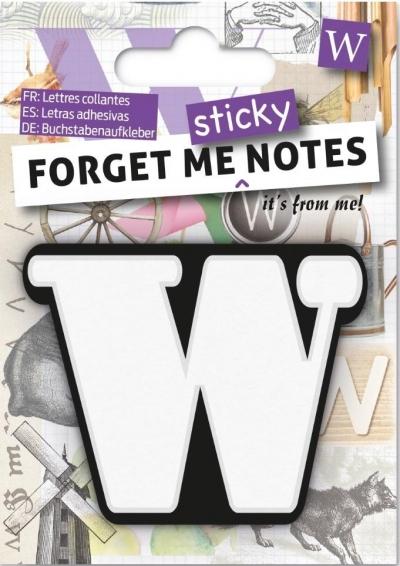 Forget me sticky - notes kart samoprzylepnych litera W