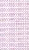 Kryształki samoprzylepne 6mm,260 szt. light pink (jasny róż) (GRKR-051)