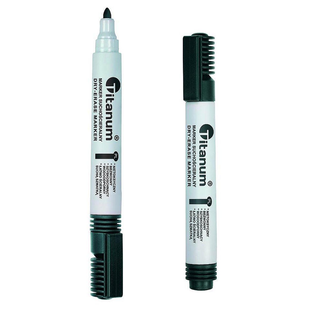 Marker suchościeralny Titanum, 3,0 mm - czarny  (71059)