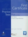 First Certificate Practice Tests Plus with Key Teaching not just testing z płytą CD